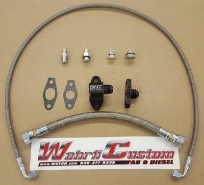 Turbo Kits, Turbos, Wheels, and Misc - Oil Feed/Drain Lines & Fittings - WCFab - Wehrli Custom Fab Single Turbo Oil Line Kit (2001-2010)