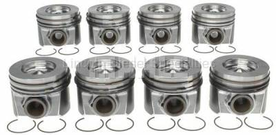 Engine - Pistons & Rings - Mahle OEM - MAHLE Full Set Right and Left Side Piston w/ Rings STD.
