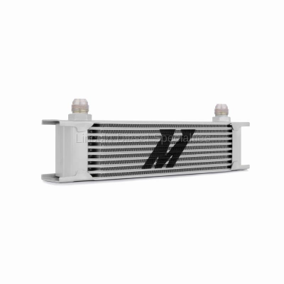 Cooling System - Oil Coolers - Mishimoto - Mishimoto Universal 10 Row Oil Cooler (Silver)