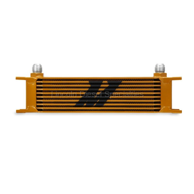 Cooling System - Oil Coolers - Mishimoto - Mishimoto Universal 10 Row Oil Cooler (Gold)