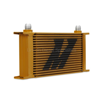 Cooling System - Oil Coolers - Mishimoto - Mishimoto Universal 19 Row Oil Cooler (Gold)
