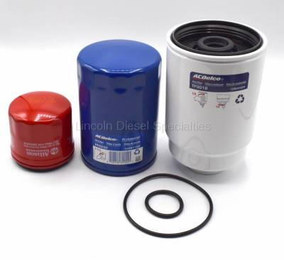 04.5-05 LLY Duramax - Filters - GM - GM Allison 3 Filter Maintenance Kit (2001-2016)