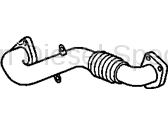 Turbo Kits, Turbos, Wheels, and Misc - Seals & Hardware - GM - GM Driver's Side Up Pipe (2001-2004)