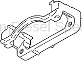 Brake Systems - Lines & Hardware - GM - GM OEM Rear Caliper Support Bracket (Drivers Side) 2001-2007