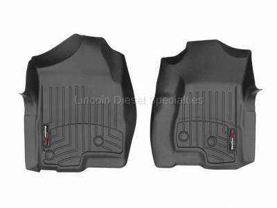 01-04 LB7 Duramax - Interior Accessories - WeatherTech - WeatherTech Duramax  Front Driver & Passenger Laser Measured Floor Liners (Black) 2001-2007