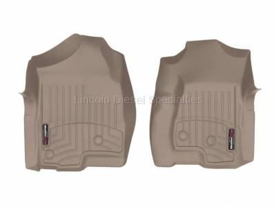 01-04 LB7 Duramax - Interior Accessories - WeatherTech - WeatherTech Duramax  Front Driver & Passenger Laser Measured Floor Liners (Tan) 2001-2007