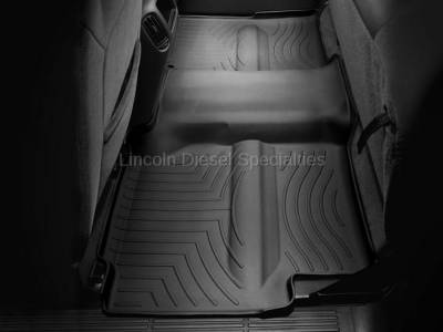 01-04 LB7 Duramax - Interior Accessories - WeatherTech - WeatherTech Duramax 2nd Row Only Floor Liner with Full Underseat Coverage (Black) 2001-2007
