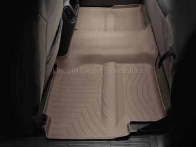 01-04 LB7 Duramax - Interior Accessories - WeatherTech - WeatherTech Duramax 2nd Row Only Floor Liner with Full Underseat Coverage (Tan) 2001-2007