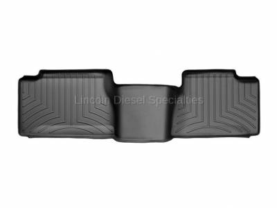 01-04 LB7 Duramax - Interior Accessories - WeatherTech - WeatherTech Duramax 2nd Row Only Floor Liner with Standard Over Hump Rear (Black) 2001-2007