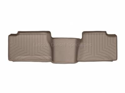 01-04 LB7 Duramax - Interior Accessories - WeatherTech - WeatherTech Duramax 2nd Row Only Floor Liner with Standard Over Hump Rear (Tan) 2001-2007