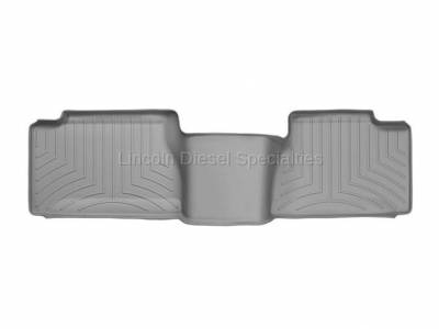 01-04 LB7 Duramax - Interior Accessories - WeatherTech - WeatherTech Duramax 2nd Row Only Floor Liner with Standard Over Hump Rear (Grey) 2001-2007