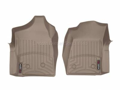 01-04 LB7 Duramax - Interior Accessories - WeatherTech - WeatherTech Duramax  Front Driver & Passenger Laser Measured Floor Liners (Tan) 2001-2007(Reg.Cab.Only)