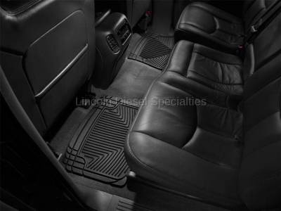 01-04 LB7 Duramax - Interior Accessories - WeatherTech - WeatherTech Duramax  Rear Only All-Weather Floor Mats (Black) 2001-2007