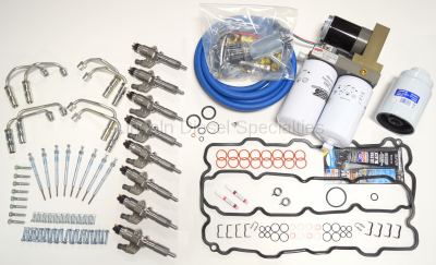 Fuel System - Injector Install Kits - Lincoln Diesel Specialities - Complete LB7 Injector Install Kit with Lift Pump