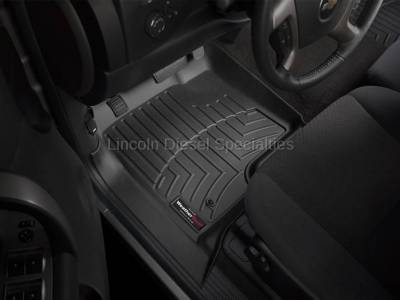 07.5-10 LMM Duramax - Interior Accessories - WeatherTech - WeatherTech Duramax  Front Driver & Passenger Laser Measured Floor Liners (Black) 2007.5-2014