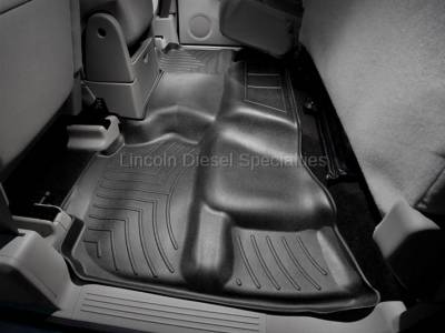 11-16 LML Duramax - Interior Accessories - WeatherTech - WeatherTech Duramax 2nd Row Only Floor Liner For Extended Cab (Black) 2007.5-2014