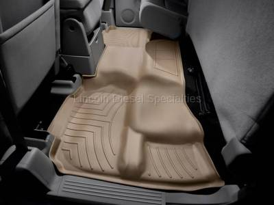 11-16 LML Duramax - Interior Accessories - WeatherTech - WeatherTech Duramax 2nd Row Only Floor Liner For Extended Cab (Tan) 2007.5-2014