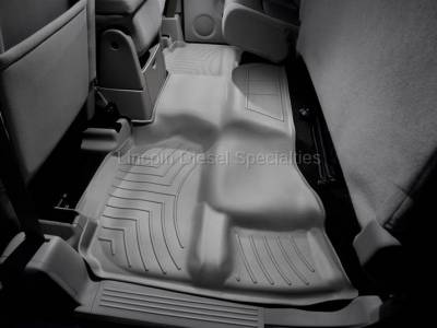 11-16 LML Duramax - Interior Accessories - WeatherTech - WeatherTech Duramax 2nd Row Only Floor Liner For Extended Cab (Grey) 2007.5-2014