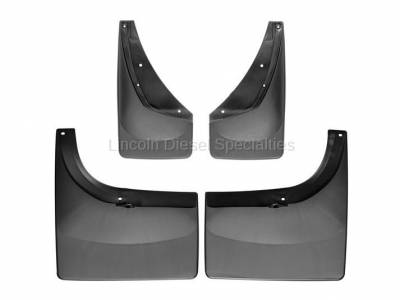 WeatherTech - WeatherTech Mud Flap Front and Rear, Fender Flares/Trim, Dually, Fenders Laser Fitted, 2001-2007  - Image 1