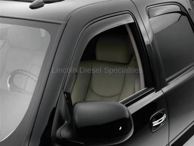 Exterior Accessoriess - Deflection/Protection - WeatherTech - WeatherTech Side Window Deflectors Crew Cab Full Set (2015-2018)