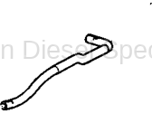 Cooling System - Hoses, Hose Kits, Pipes and Clamps - GM - GM OEM Radiator Surge Tank Inlet Hose (2007.5-2010)