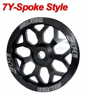 Fuel System - Injection Pumps - Pacific Performance Engineering - PPE Performance 7Y-Spoke Style Billet Aluminum Pulley Wheel (2006-2010)