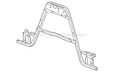 Cooling System - Radiators, Tanks, Reservoirs and Parts - GM - GM Front Radiator Support Brace (2011-2014)