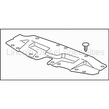 Cooling System - Radiators, Tanks, Reservoirs and Parts - GM - GM OEM Radiator Core Support-Sight Shield Splash Cover (2011-2014)