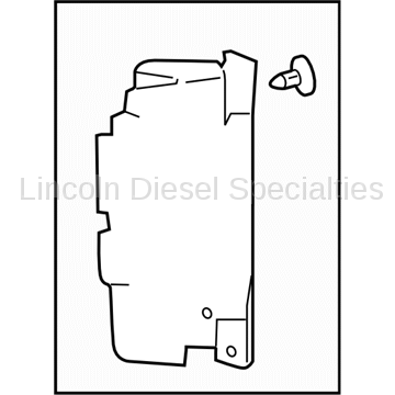 Cooling System - Radiators, Tanks, Reservoirs and Parts - GM - GM OEM Radiator Air Baffle Right Side (2011-2014)