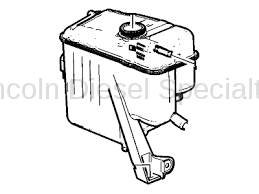 Cooling System - Radiators, Tanks, Reservoirs and Parts - GM - GM OEM Coolant Over Flow/ Surge Tank (2011-2012)