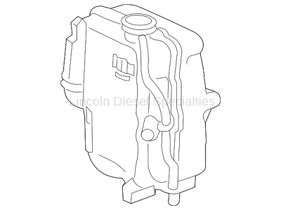 Cooling System - Radiators, Tanks, Reservoirs and Parts - GM - GM OEM Replacement Coolant Surge Tank (2017-2018)