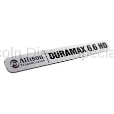 Exterior Accessories - Body Molding and Badges - GM - GM OEM Duramax Nameplate/Emblem (2001-2016)