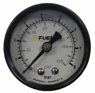 Fuel Lab - Fuelabs  EFI  1.5 inch Fuel Pressure Gauge Dual Scale. Range: 0-120 PSI
