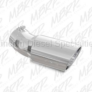 "Exhaust - Exhaust Tips - MBRP - MBRP Universal Tip, 6"" O.D., Angled Rolled End, 5"" inlet, 15 ½"" in length, 30 degree bend, T304"
