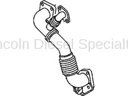 Exhaust - Manifolds & Up Pipes - GM - GM OEM Exhaust Inlet Pipe (RH) 2007.5-2010