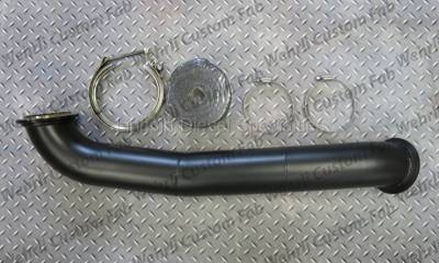 "Exhaust - Down Pipes - WCFab - Wehrli Custom Fab Duramax S400 3"" Down Pipe (2001-2016)"