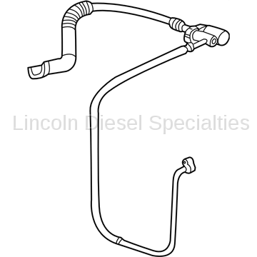 06-07 LBZ Duramax - Heating & Air Conditioning - GM - GM OEM Air Conditioning Discharge Hose & Tube Assembly (2003-2007)