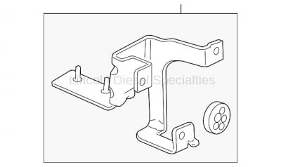 Brake Systems - Sensors and Electronics - GM - GM OEM ABS Pressure Modulator Mounting Bracket (2011-2014)