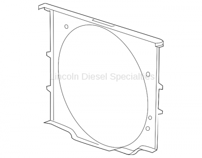 Cooling System - Cooling Fans and Fan Parts - GM - GM OEM Cooling Fan Front Shroud (2015-2016)