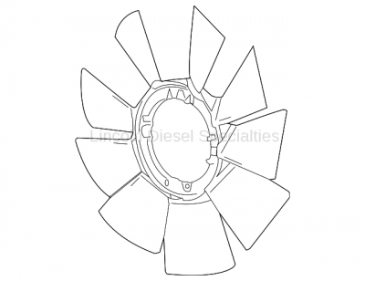 Cooling System - Cooling Fans and Fan Parts - GM - GM OEM Fan Blade (2017-2018)
