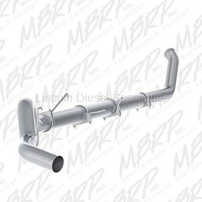 "Exhaust Systems - 5 Inch Systems - MBRP - MBRP Dodge/Cummins 5"" Turbo Back, Single Side Exit, No Muffler, Aluminized (2003-2004)***"