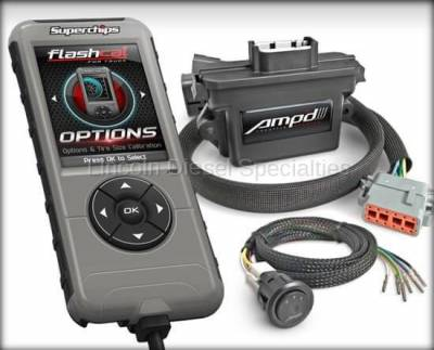 2013-2020 24 Valve 6.7L - Tuners and Programmers - Superchips - SuperChips Dodge/Cummins Amp'D Throttle Booster Kit w/ Power Switch + Flashcal (2011-2016)