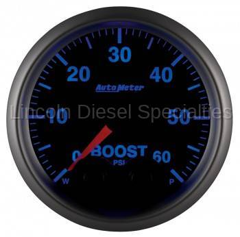 "Instrument Gauges/Pods/Hardware - Gauges - Auto Meter - Auto Meter Elite Series 2-1/16"" Boost, 0-60 PSI, Stepper Motor (Universal)"