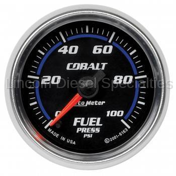"Instrument Gauges/Pods/Hardware - Gauges - Auto Meter - Auto Meter Cobalt Series 2-1/16"" Fuel Pressure, Stepper Motor, 0-100 PSI (Universal)"