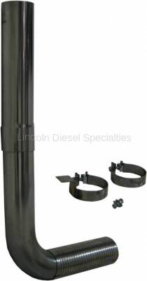 "Exhaust Systems - Stack Systems & Smoker Kits - MBRP - MBRP Universal SMOKERS® 4"" Single Pipe Stack Kit, T409"