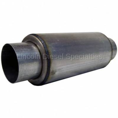 "Exhaust - Mufflers - MBRP - MBRP Universal Resonator 4"" Inlet /Outlet 12"" Body 18"" Overall, T304*"