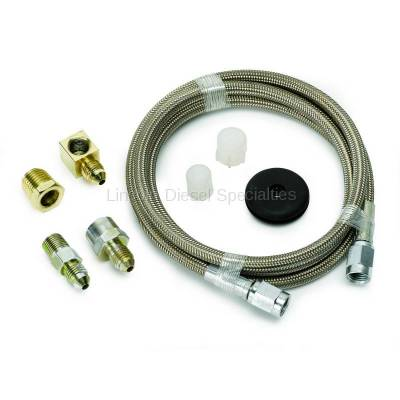 "Auto Meter - Auto Meter Braided Stainless Steel Line, #3 DIA., 6FT.Lgnth, -3AN AND 1/8"" NPTF Fittings (Universal)"