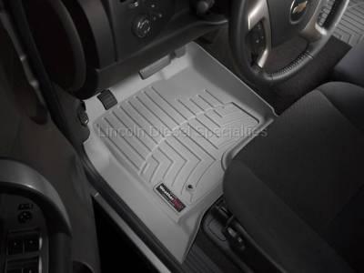11-16 LML Duramax - Interior Accessories - WeatherTech - WeatherTech Duramax  Front Driver & Passenger Laser Measured Floor Liners (Grey) 2015-2016