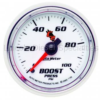 Auto Meter - Auto Meter C2 Series Boost Gauge-Mechanical 0-100 PSI