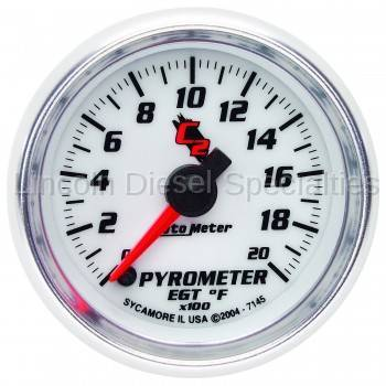 Instrument Gauges/Pods/Hardware - Gauges - Auto Meter - Auto Meter C2 Series Pyrometer Gauge (0-2000 F)